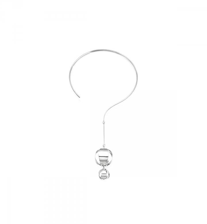 Balloons Collar, Silver