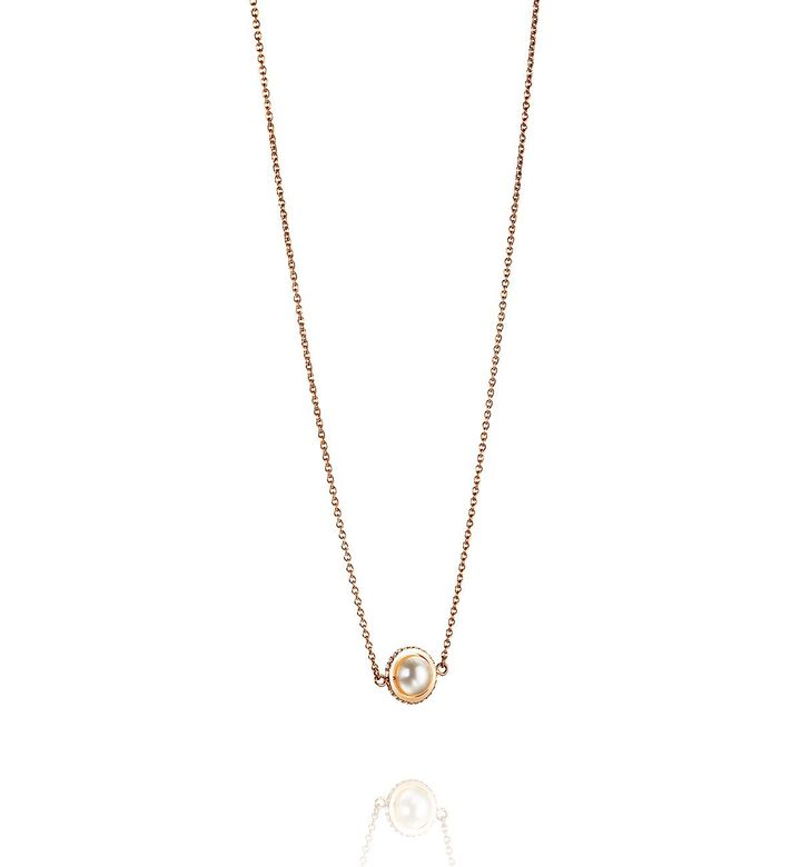 Day Pearl & Stars Necklace – Guld, 42/45 cm