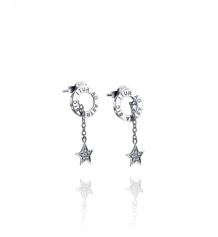 Astra Fall & Stars Earrings – Silver