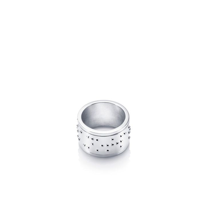 Make Love Not War Ring – Silver
