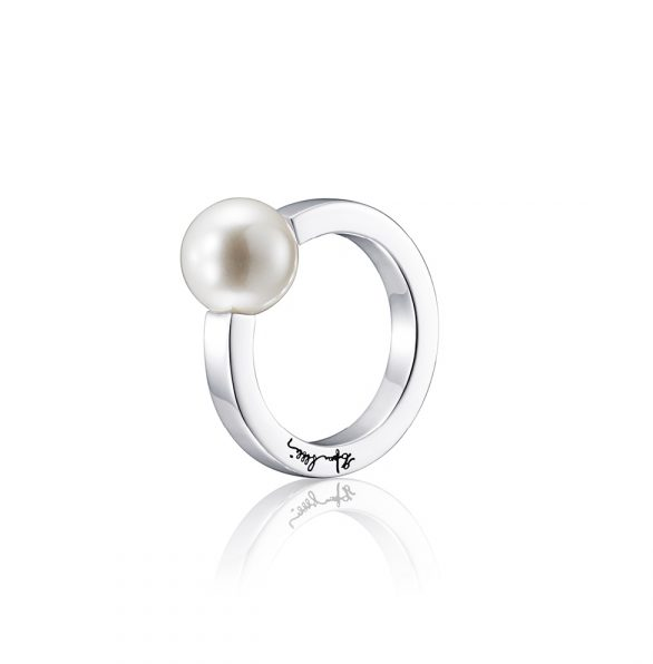 60's Pearl Ring – Silver
