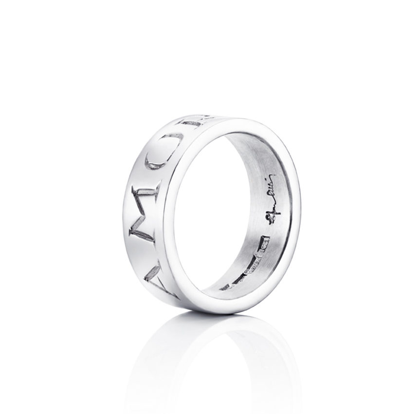 Amor Fati Ring – Vitt guld