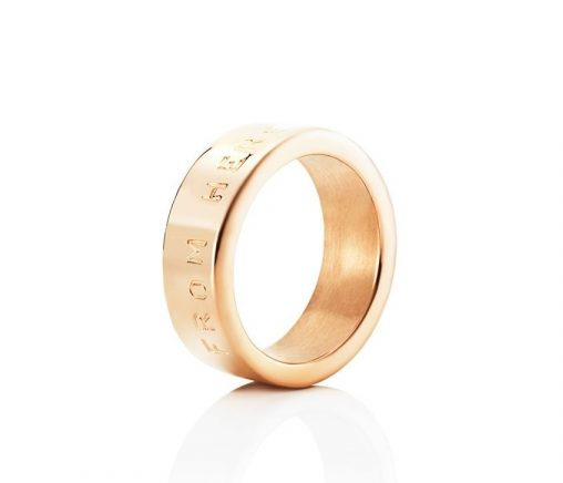 From Here To Eternity Stamped Ring – Guld