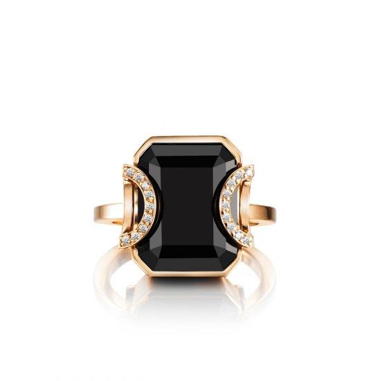 Little Magic Star Ring – Onyx, Guld