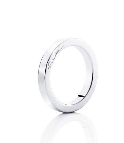 Half Round Ring – Vitt guld