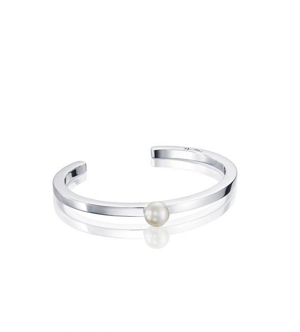 60's Pearl Cuff – Silver