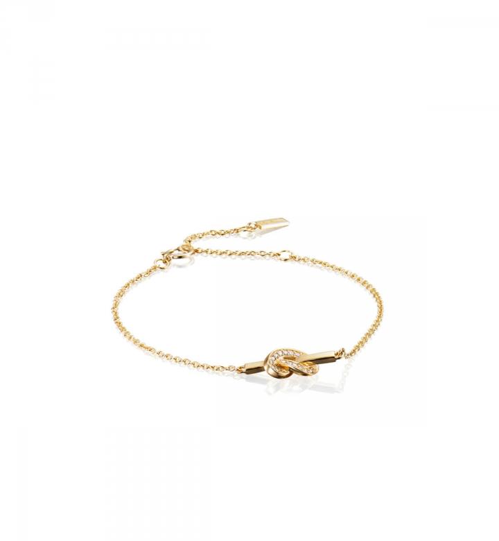 Love Knot & Stars Bracelet – Guld