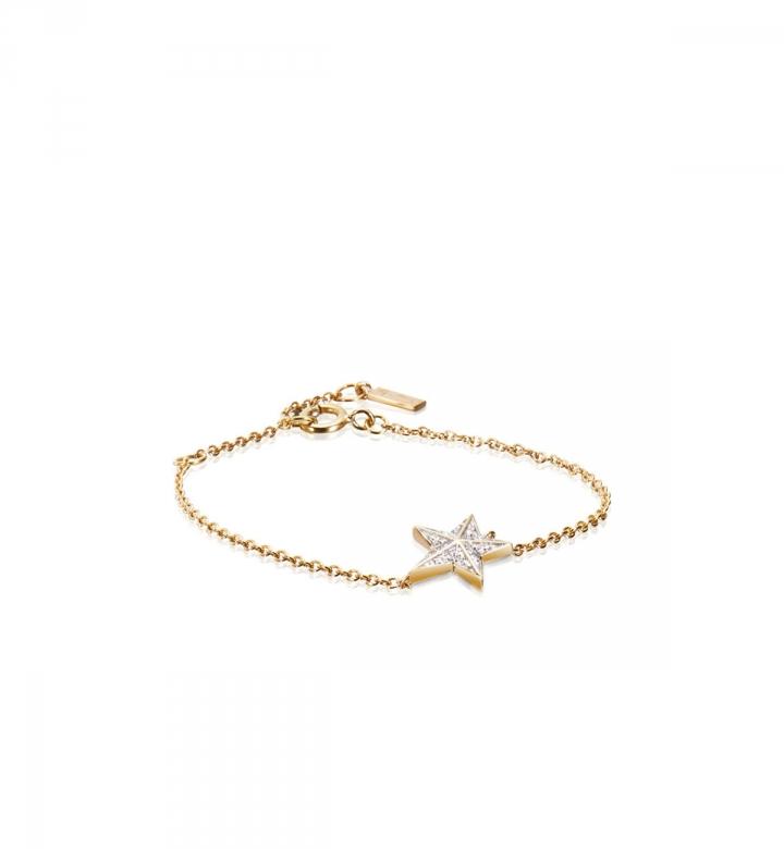 Catch A Falling Star & Stars Bracelet – Guld