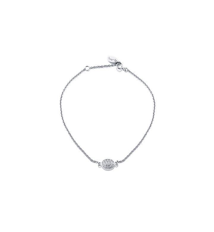 Love Bead Bracelet – Vitt guld