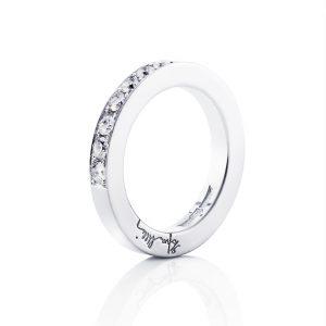 7 Stars & Signature Ring-Vitt guld