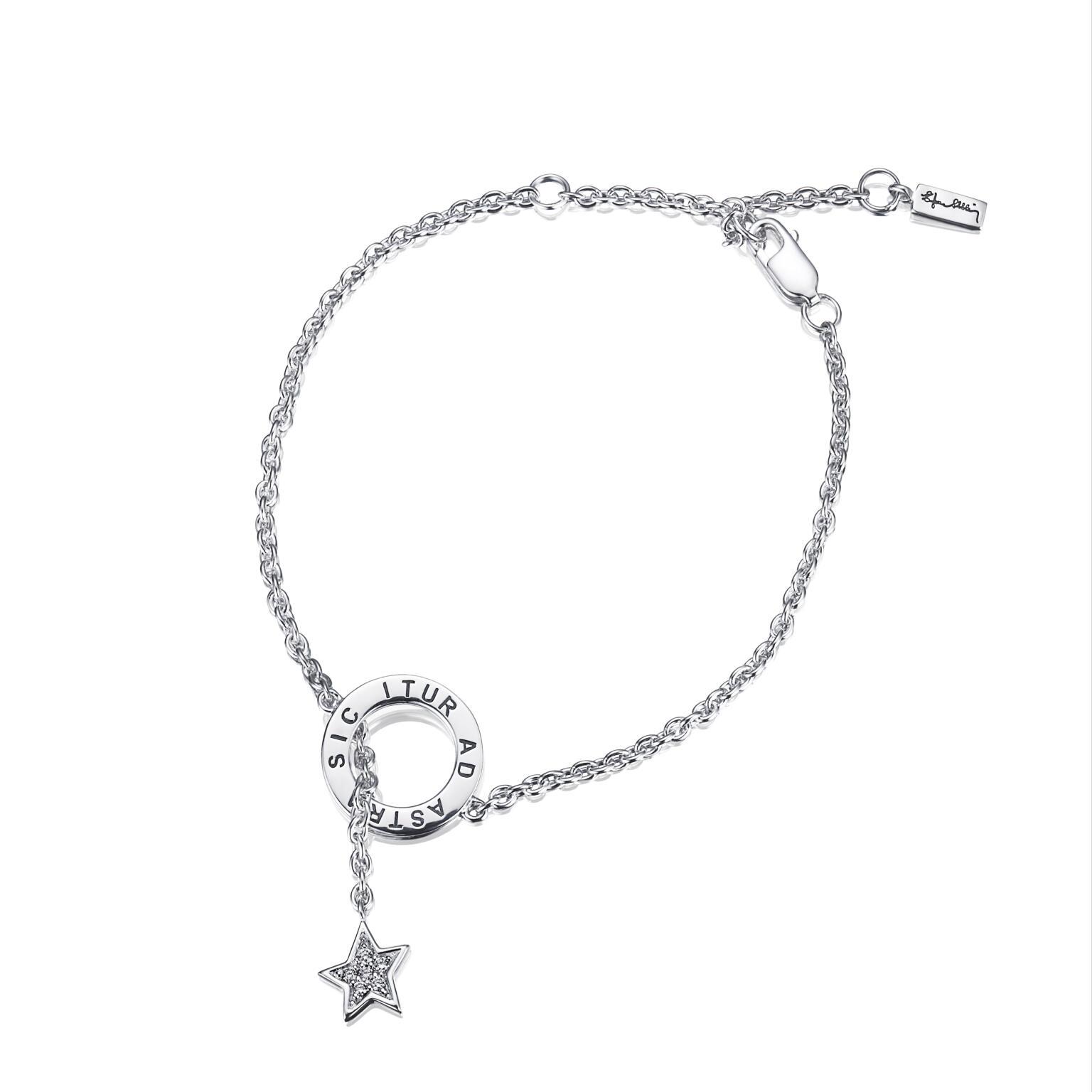 Astra Fall & Stars Bracelet – Silver
