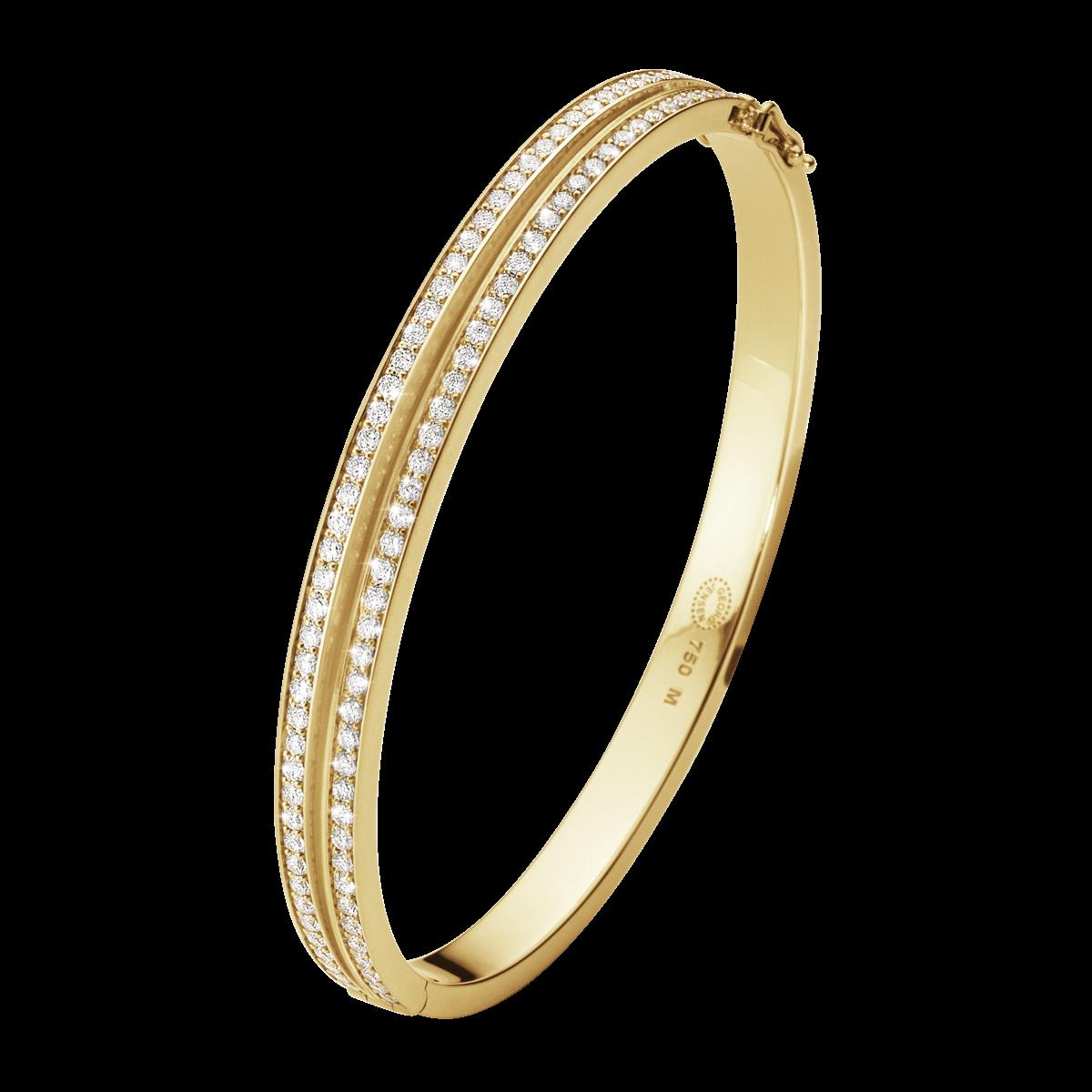 Halo Armring – 18 Karat Rött Guld med Briljanter