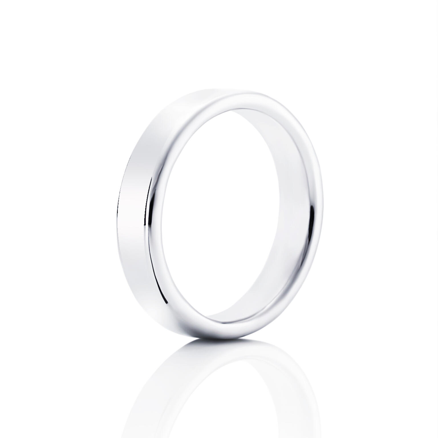 Smooth Ring – Vitt guld