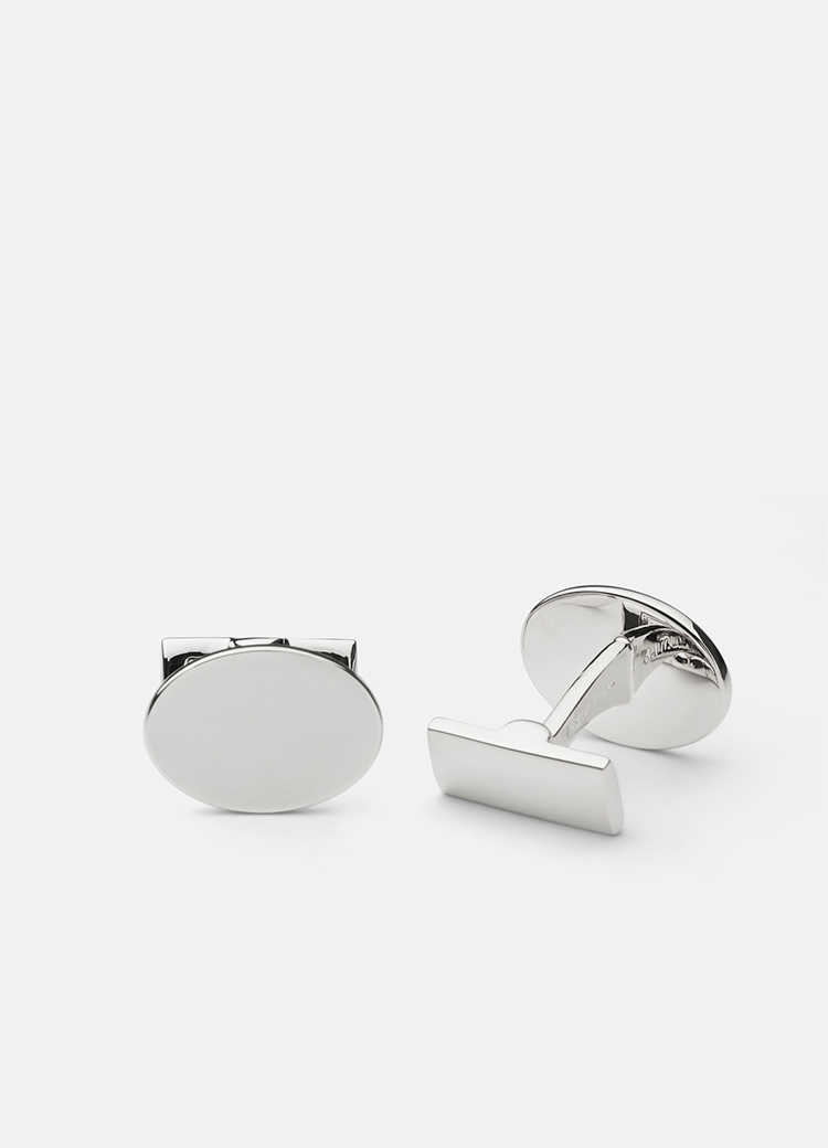 Black Tie-Silver Oval