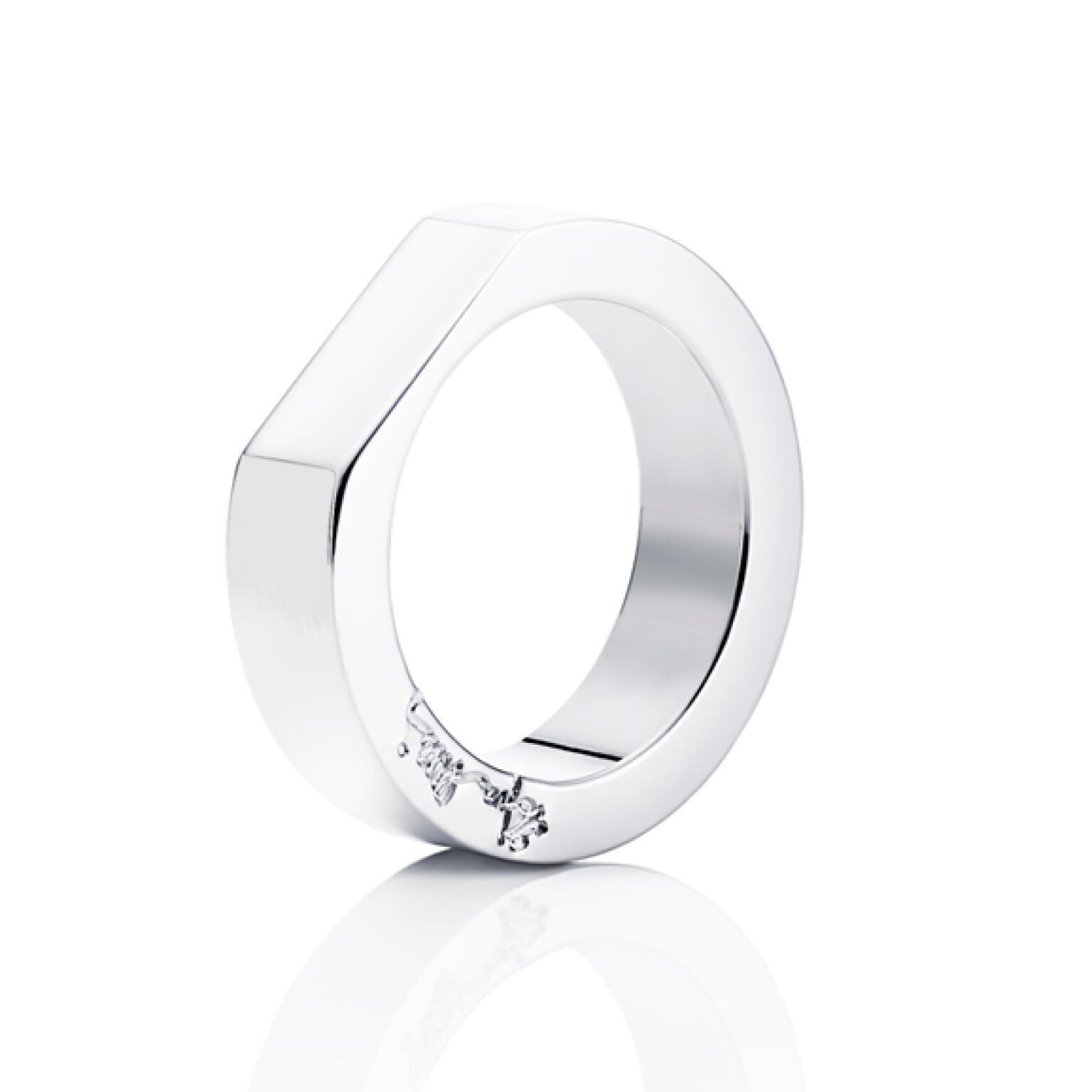 Kärlek & Plain Ring – Silver