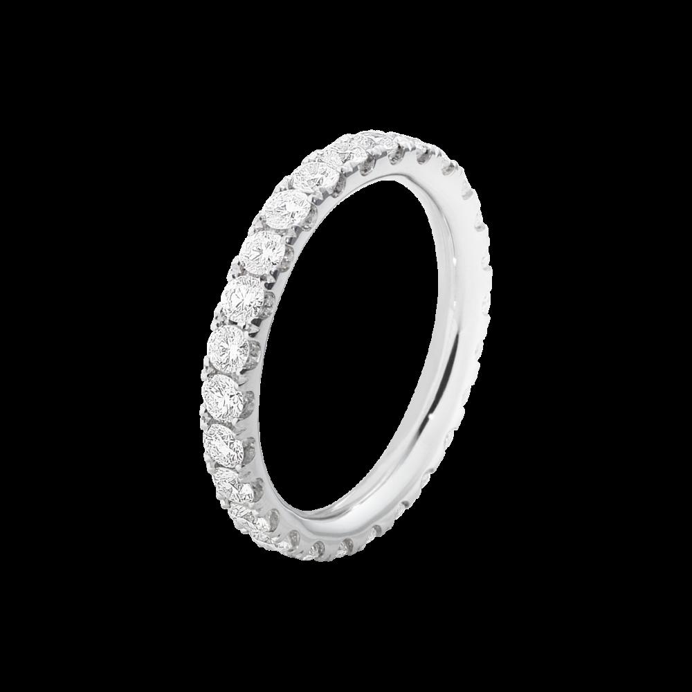 AURORA Ring – 18 Karat Vitt Guld Med Briljanter