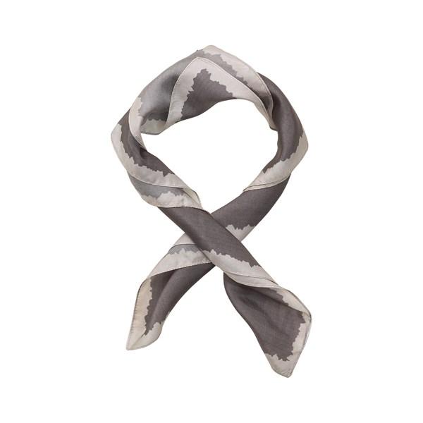 Border Silk Scarf Clay
