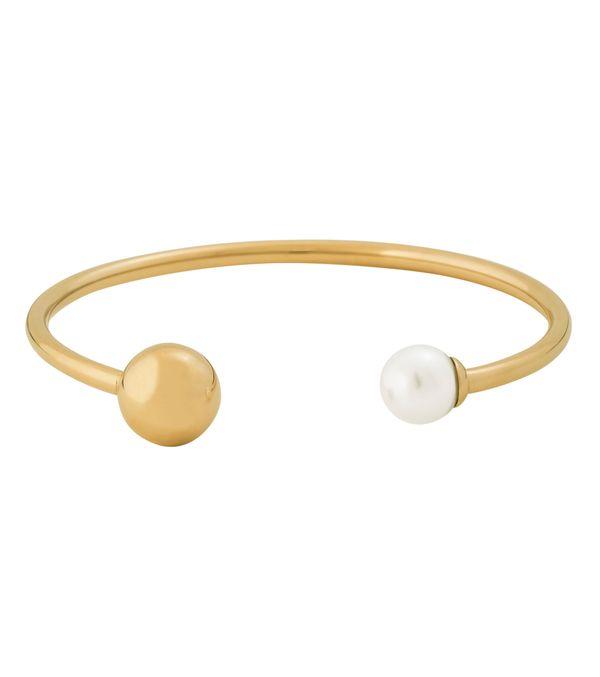 Atom Bracelet Pearl White Gold