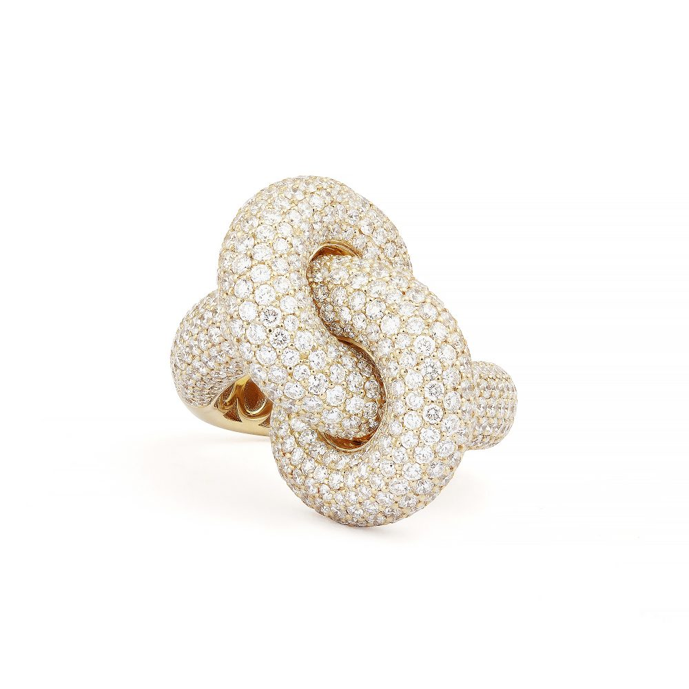 Absolutely Fat Knot Gold Pavé