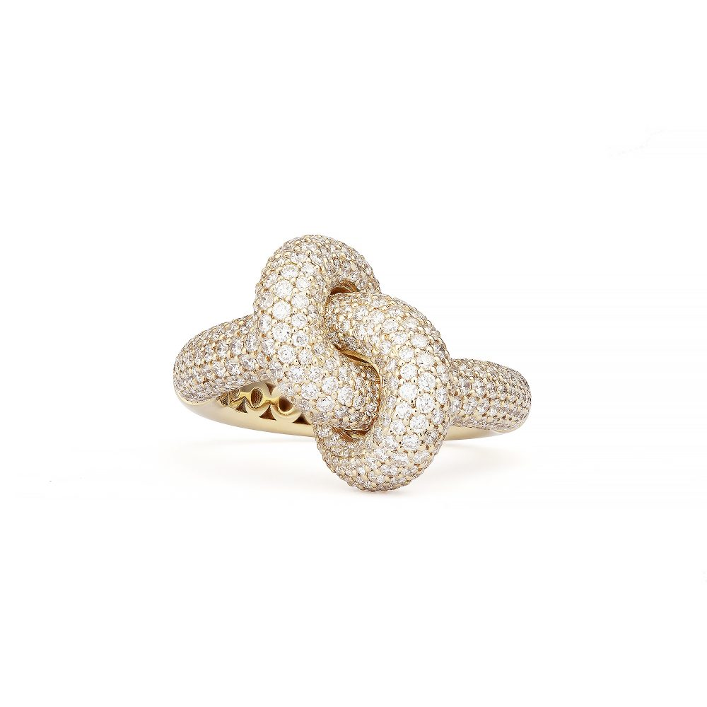 Absolutely Loose Knot Gold Pavé