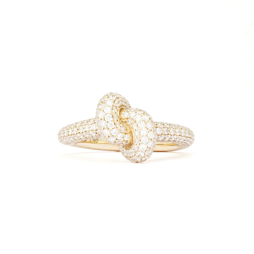 Absolutely Tight Knot Gold Pavé