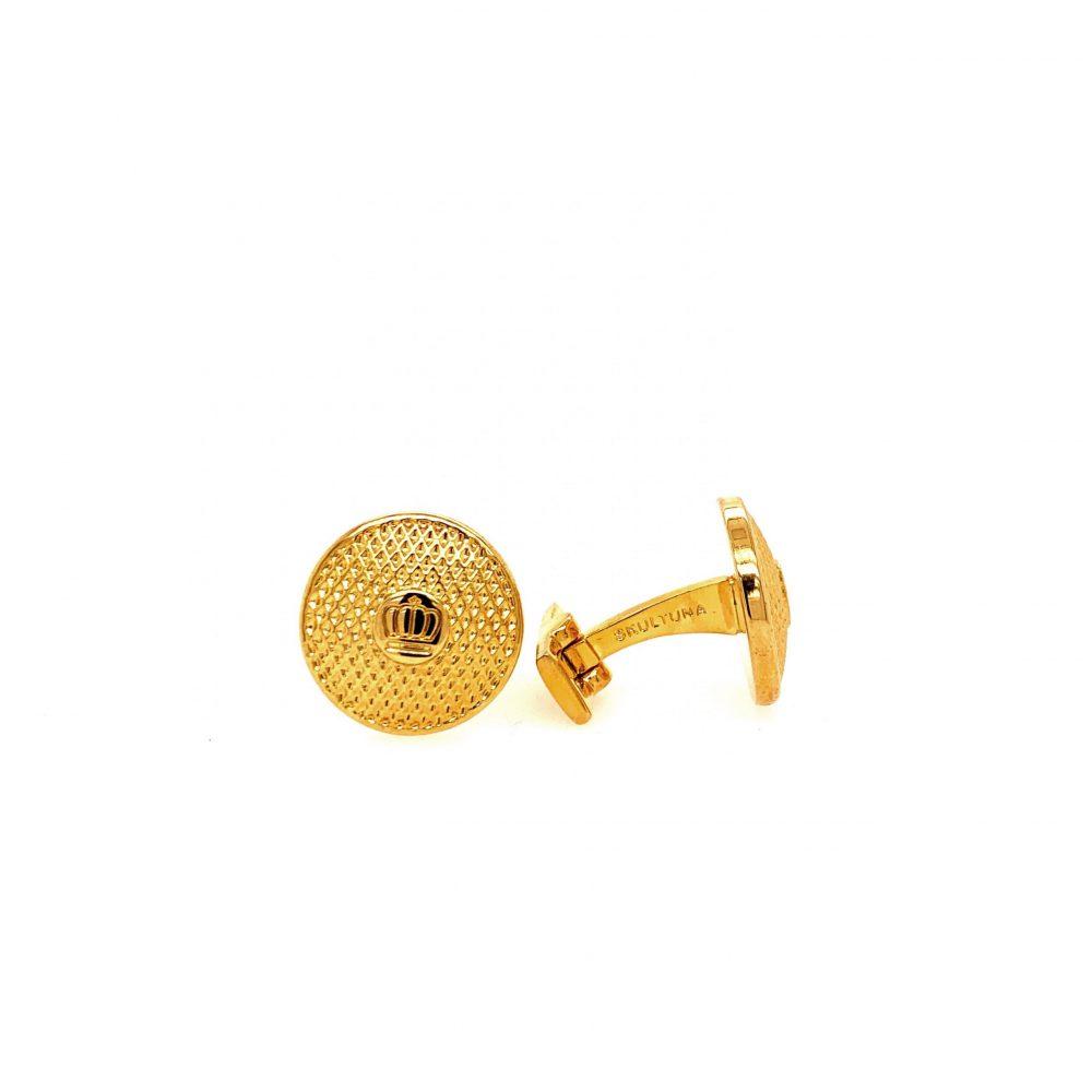 Cuff Links Headlight Gold Plated