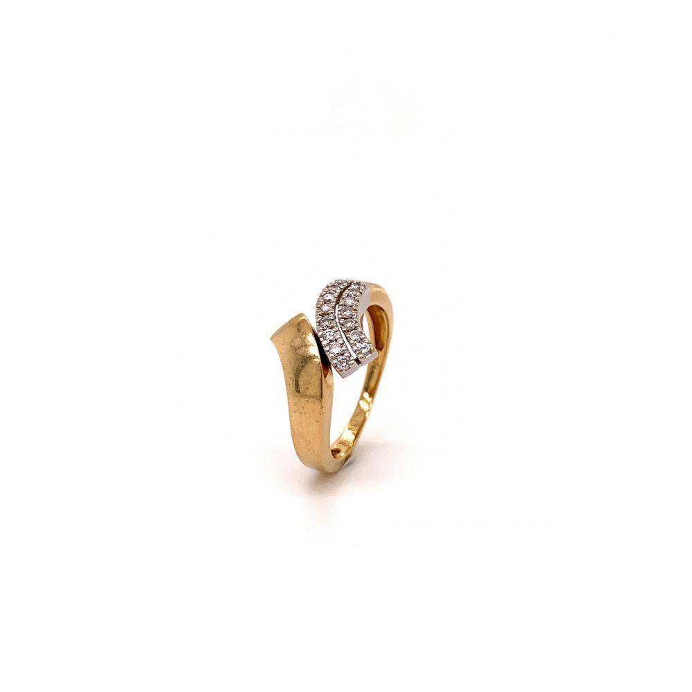 Guldring med diamanter 0,20ct