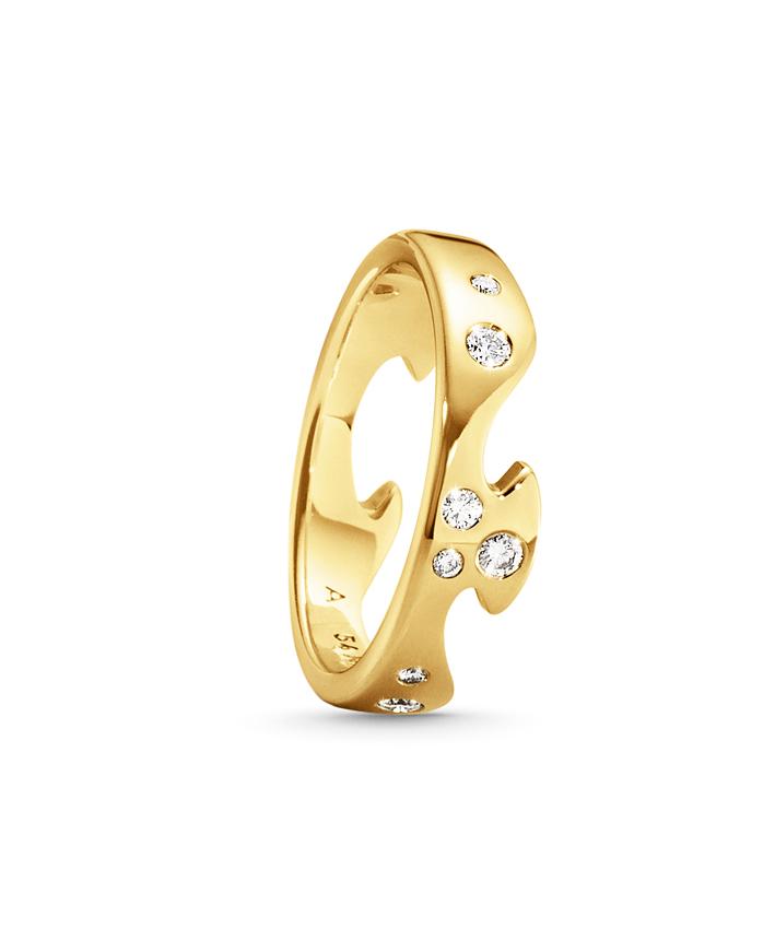 Fusion Ytterring – 18k Rödguld Med Diamanter