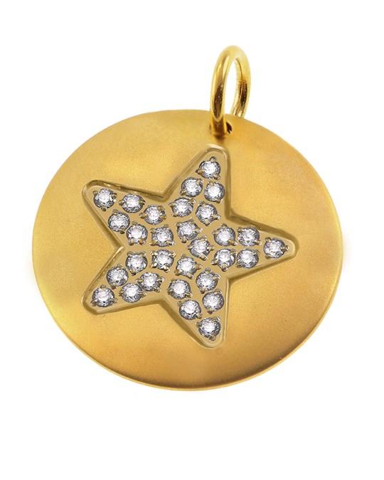 Charmentity Star Large Matt Gold