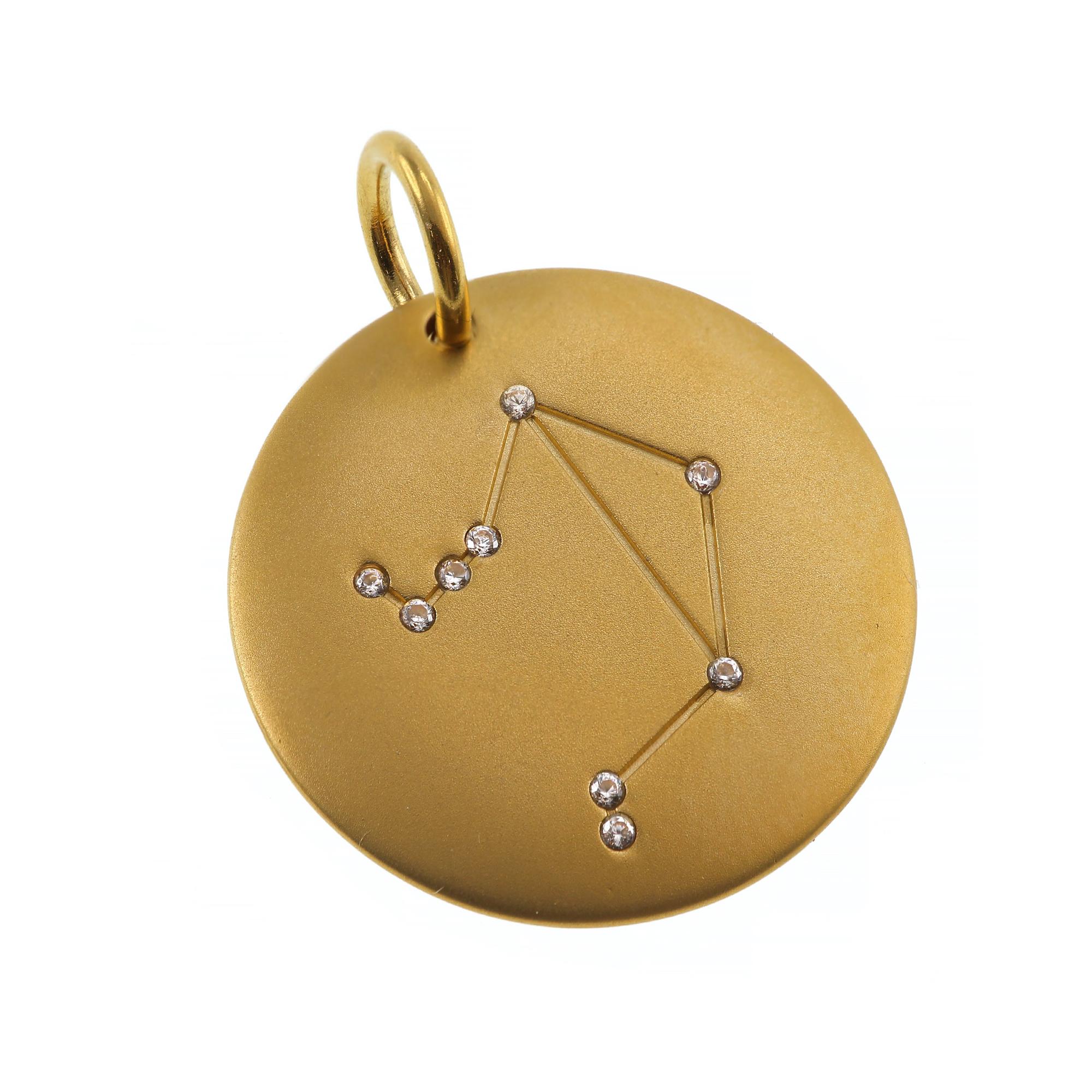 Charmentity Zodiac Libra Matt Gold