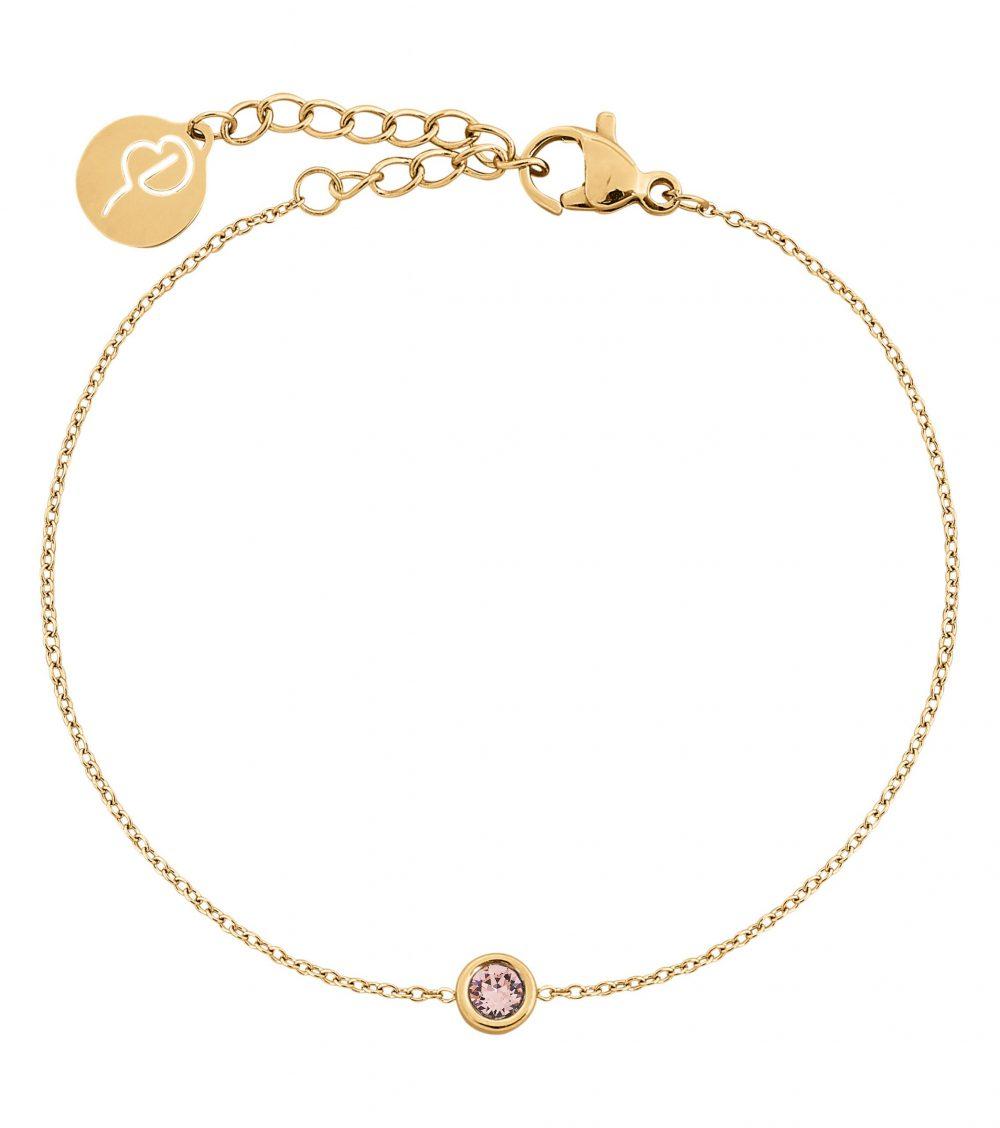 Dew Drop Bracelet Blush Gold