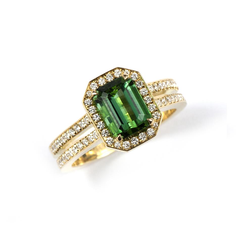 Cosmopolitan Ring Green Tourmaline