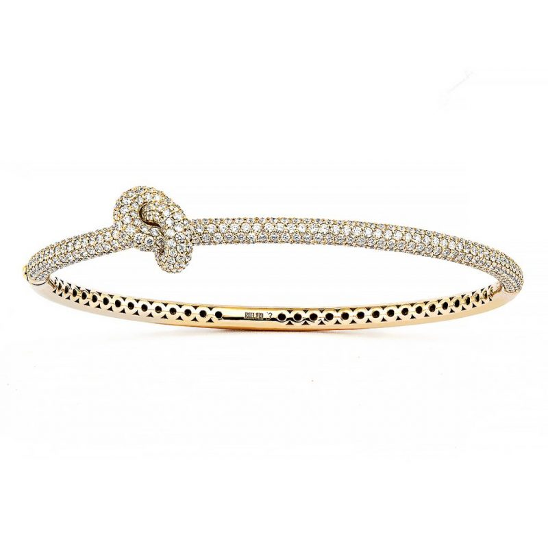 Absolutely Knot Pavé Armring Guld