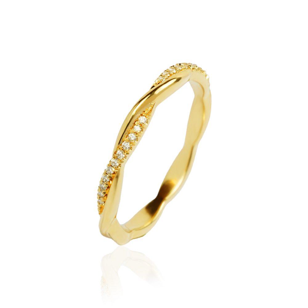 Entwined Slim Ring Half Set